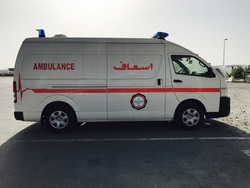 Toyota Hiace Diesel Ambulance from DAZZLE UAE