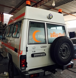 VDJ78 Hardtop High Roof Ambulance UAE from DAZZLE UAE