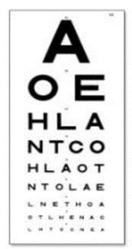6 Meters AOE Eye Test Chart  from ARASCA MEDICAL EQUIPMENT TRADING LLC