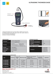 ULTRASONIC THICKNESS GUAGE IN UAE