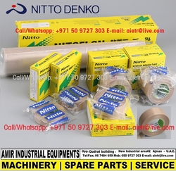 Nitto Tape Nito Teflon adhesive tape Brown tape Heating tape Packing machine Distributor Dealer Supplier in Dubai Abu Dhabi UAE Africa from AMIR INDUSTRIAL EQUIPMENT'S