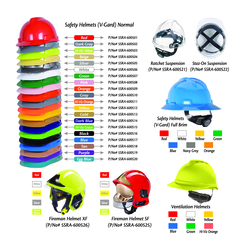 Safety Helmets MSA 20 Colors  from URUGUAY GROUP OF COMPANIES