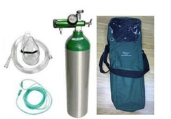 Aluminum Medical Oxygen size D with accessories and bag. from ARASCA MEDICAL EQUIPMENT TRADING LLC