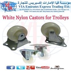 White Nylon Castors for Trolleys in UAE from VIA EMIRATES EXPRESS TRADING EST