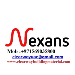 NEXANS PRODUCTS DEALER IN MUSAFFAH , ABUDHABI , UAE from CLEAR WAY BUILDING MATERIALS TRADING