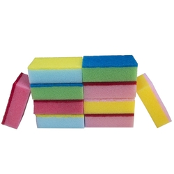 light duty multi colour sponge