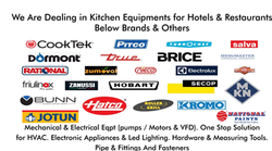 KITCHEN EQUIPMENT from I K BROTHERS GENERAL TRADING CO LLC