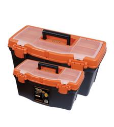 Tactix 2pc Plastic Toolbox Set (Orange) from AL FUTTAIM ACE