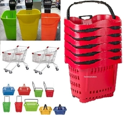 Plastic trolley for supermarket Apple trolley,Cest