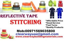 Reflective Tape Stitching in Mussafah , Abudhabi , UAE from CLEAR WAY BUILDING MATERIALS TRADING