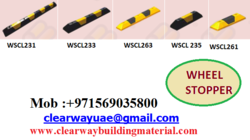 WHEEL STOPPER DEALER IN MUSSAFAH , ABUDHABI , UAE from CLEAR WAY BUILDING MATERIALS TRADING
