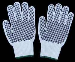 Dotted Hand Glove suppliers in Qatar from NINE INTERNATIONAL WLL