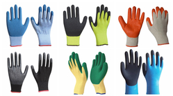 Latex Coated Hand Glove suppliers in Qatar from NINE INTERNATIONAL WLL