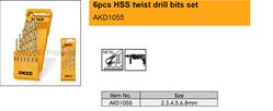 6pcs HSS twist drill bits set suppliers in Qatar from MEP SOLUTION PROVIDER IN QATAR