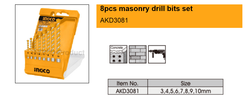 8pcs masonry drill bits set suppliers in Qatar from NINE INTERNATIONAL WLL