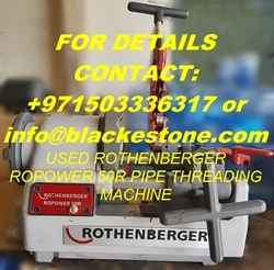 Used ROTHENBERGER ROPOWER 50R Pipe Threading Machine