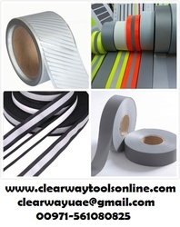 Reflective Tape Cloth tape In Musaffah, Abudhabi from CLEAR WAY BUILDING MATERIALS TRADING