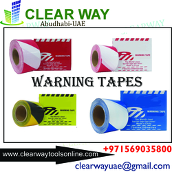 WARNING TAPES IN MUSSAFAH , ABUDHABI , UAE from CLEAR WAY BUILDING MATERIALS TRADING