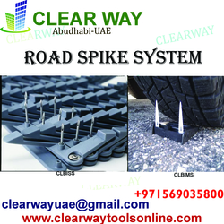 ROAD SPIKE SYSTEM DEALER IN MUSSAFAH , ABUDHABI , UAE from CLEAR WAY BUILDING MATERIALS TRADING