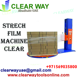 STRECH FILM MACHINE -CLEAR DEALER IN MUSSAFAH , ABUDHABI ,UAE from CLEAR WAY BUILDING MATERIALS TRADING