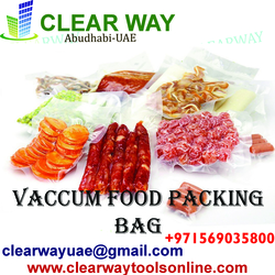 VACCUM FOOD PACKING BAG DEALER IN MUSSAFAH , ABUDHABI , UAE from CLEAR WAY BUILDING MATERIALS TRADING