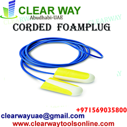 CORDED FOAMPLUG (DISPOSABLE)  DEALER IN MUSSAFAH , ABUDHABI , UAE from CLEAR WAY BUILDING MATERIALS TRADING