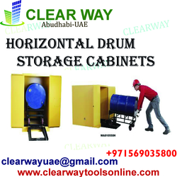 HORIZONTAL DRUM STORAGE CABINETS DEALER IN MUSSAFAH , ABUDHABI , UAE from CLEAR WAY BUILDING MATERIALS TRADING
