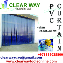 PVC CURTAIN SALES & INSTALLATION DEALER IN MUSSAFAH , ABUDHABI ,UAE from CLEAR WAY BUILDING MATERIALS TRADING