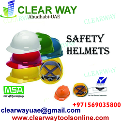 MSA V-GARD SAFETY HELMETS DEALER IN MUSSAFAH , ABUDHABI , UAE from CLEAR WAY BUILDING MATERIALS TRADING