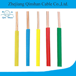 Single core copper conductor PVC insulated electrical wire