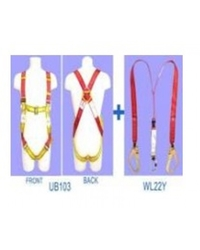FULL BODY HARNESS WITH TWIN WEBBING LANYARD AND SHOCK ABSORBER