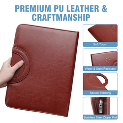Leather Portfolio organizer Holder from AL HADIYA ADVERTISING.