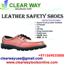 LEATHER SAFETY SHOES DEALER IN MUSSAFAH , ABUDHABI ,UAE