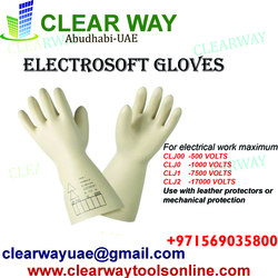 ELECTROSOFT GLOVES DEALER IN MUSSAFAH , ABUDHABI ,UAE  from CLEAR WAY BUILDING MATERIALS TRADING