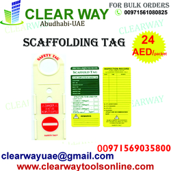 SCAFFOLDING TAG DEALER IN MUSSAFAH , ABUDHABI ,UAE from CLEAR WAY BUILDING MATERIALS TRADING