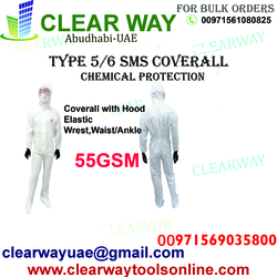 TYPE 5/6 SMS COVERALL WITH CHEMICAL PROTECTION DEALER IN MUSSAFAH , ABUDHABI ,UAE