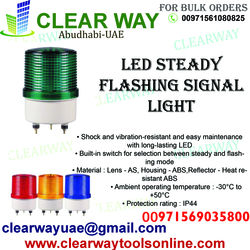 MULTI PURPOSE LED STEADY FLASHING SIGNAL LIGHT DEALER IN MUSSAFAH , ABUDHABI , UAE from CLEAR WAY BUILDING MATERIALS TRADING