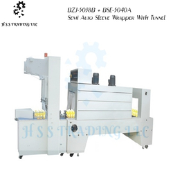 BZJ-5038B + BSE-5040A Semi Auto Sleeve Wrapper With Tunnel