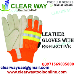 REFLECTIVE LEATHER GLOVES DEALER IN MUSSAFAH , ABUDHABI ,UAE