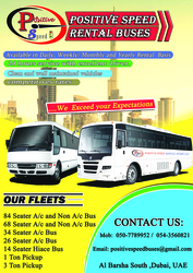 BUSES CHARTER AND RENTAL from POSITIVE SPEED RENTAL BUSES L.L.C