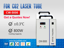 Industrial Air Cooled Chiller CW5000 for Sealed CO2 Laser Tube