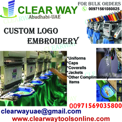 CUSTOM LOGO EMBROIDERY SERVICE IN MUSSAFAH , ABUDHABI ,UAE
