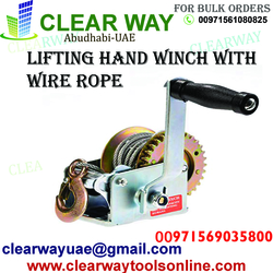 HAND WINCH WITH WIRE ROPE DEALER IN MUSSAFAH , ABUDHABI ,UAE