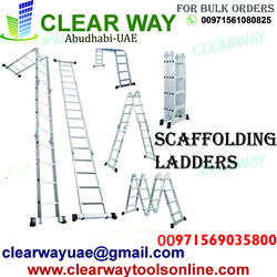 SCAFFOLDING LADDERS DEALER IN MUSSAFAH , ABUDHABI ,UAE from CLEAR WAY BUILDING MATERIALS TRADING