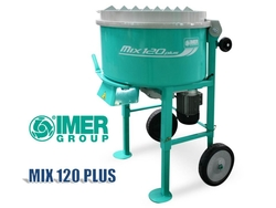 Compact Mortar Mixer - IMER MIX 120 PLUS Pan Mixer from ELMEC EQUIPMENT TRADING LLC