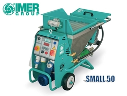 IMER SMALL 50 - For spraying conventional mortar and premixed plasters, premixed thixotropic products, waterproofing products, smoothing and coloured products, coatings with paints, for filling joints, for strengthening injections from ELMEC EQUIPMENT TRADING LLC