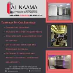 Turn-Key Fitout from AL NAAMA INTERIORS