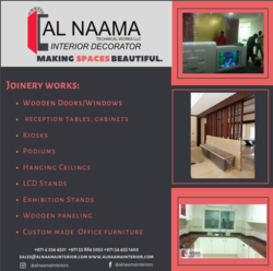 FURNITURE DESIGNERS AND CUSTOM BUILDERS from AL NAAMA INTERIORS