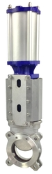 KNIFE GATE VALVE, PNEUMATIC ACTUATED