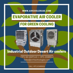 Air Cooler. Evaporative Air Cooler. Outdoor air cooler. Industrial air cooler. Desert air cooler. Commercial cooler from CONTROL TECHNOLOGIES